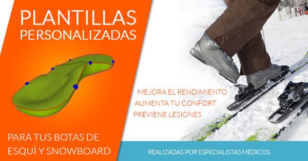 plantillas específicas para la práctica del esquí